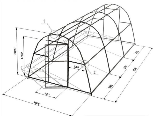 калькулятор расчета теплицы из поликарбоната