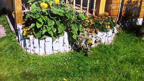 ограждением цветников на даче