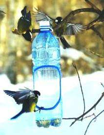 Кормушки из пластиковой бутылки