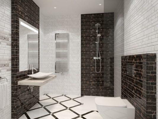 Клинкерная плитка в ванной комнате
