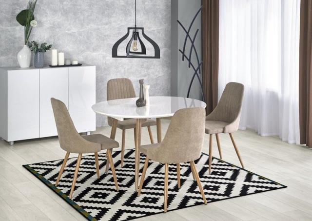 Круглый или прямоугольный стол в маленькой гостиной?